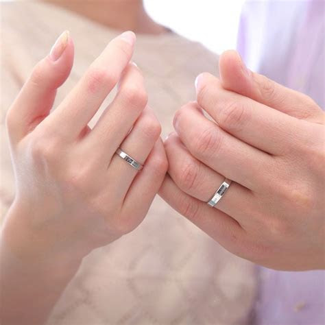 925 Sterling Silver Forever Love Simple Style Couple Rings