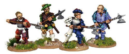 Landsknecht Halberds Attacking
