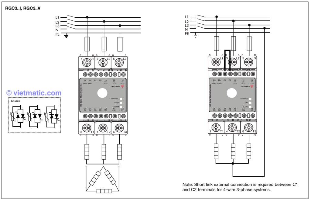 Sơ đồ nối điện phần động lực (tải)