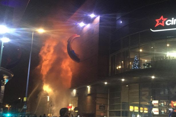 Fire at Broad Street Cineworld