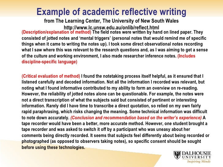 how to write a reflective essay on your own writing