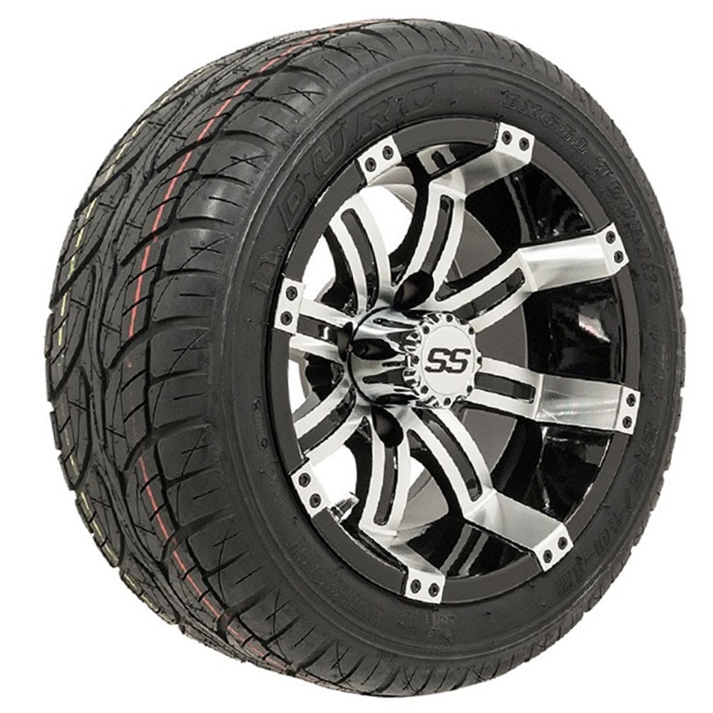 Set Of 4 12 Inch Gtw Tempest Wheels Mounted On Lo Pro Street Tires