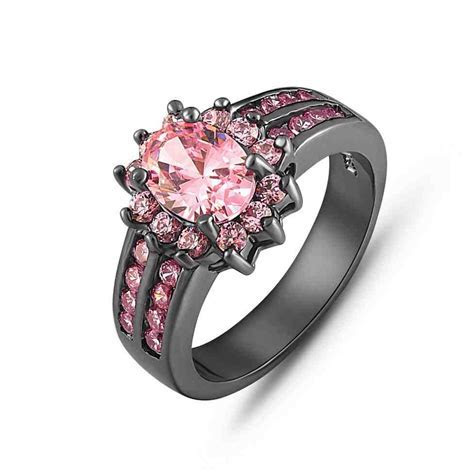 Black Gold And Pink Diamond Engagement Rings   Wedding and