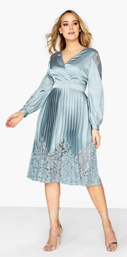 plus size wedding guest dress sleeves alexa webb 318 19