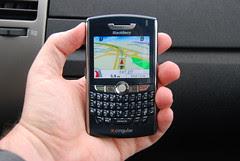 Telenav in action on Blackberry 8800