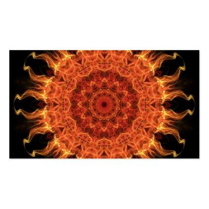 Flaming Sun Business Card Template