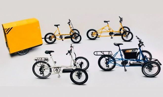 Проворный электрический велотрайк МХ3 может перевезти внушительные 200 кг груза