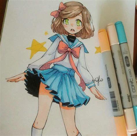 pin  rebecca   colorpalette   anime art