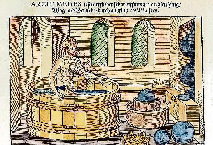 Arquímedes, sabio griego que estudió la flotación de los cuerpos
