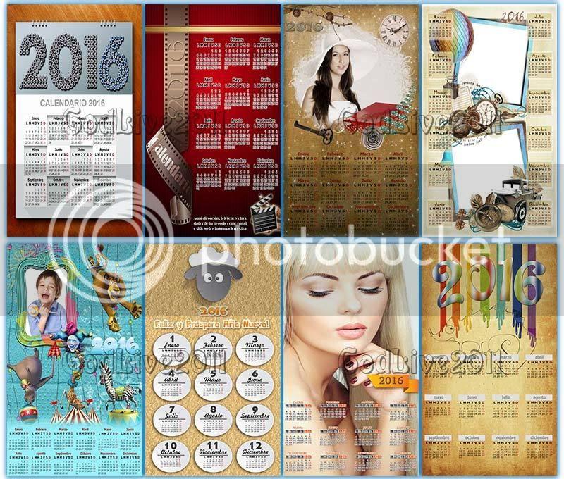 calendarios 2016 psd png para imprimir