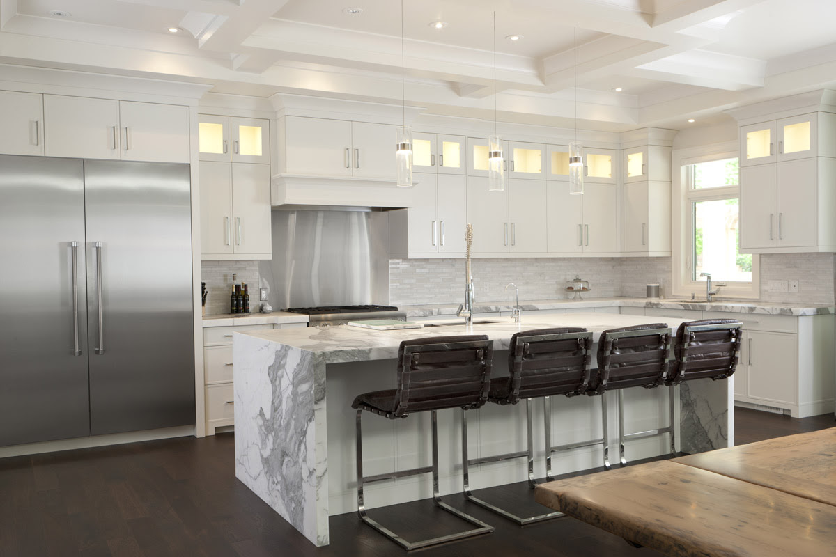 ikea high gloss cabinetry kitchen contemporary with high ...
