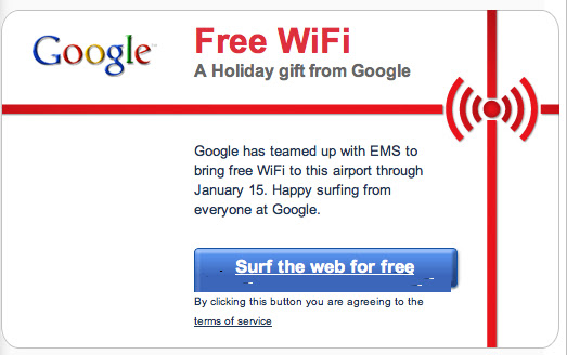 Free WiFi, A Holiday Gift From Google