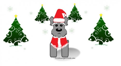 Image result for schnauzer christmas