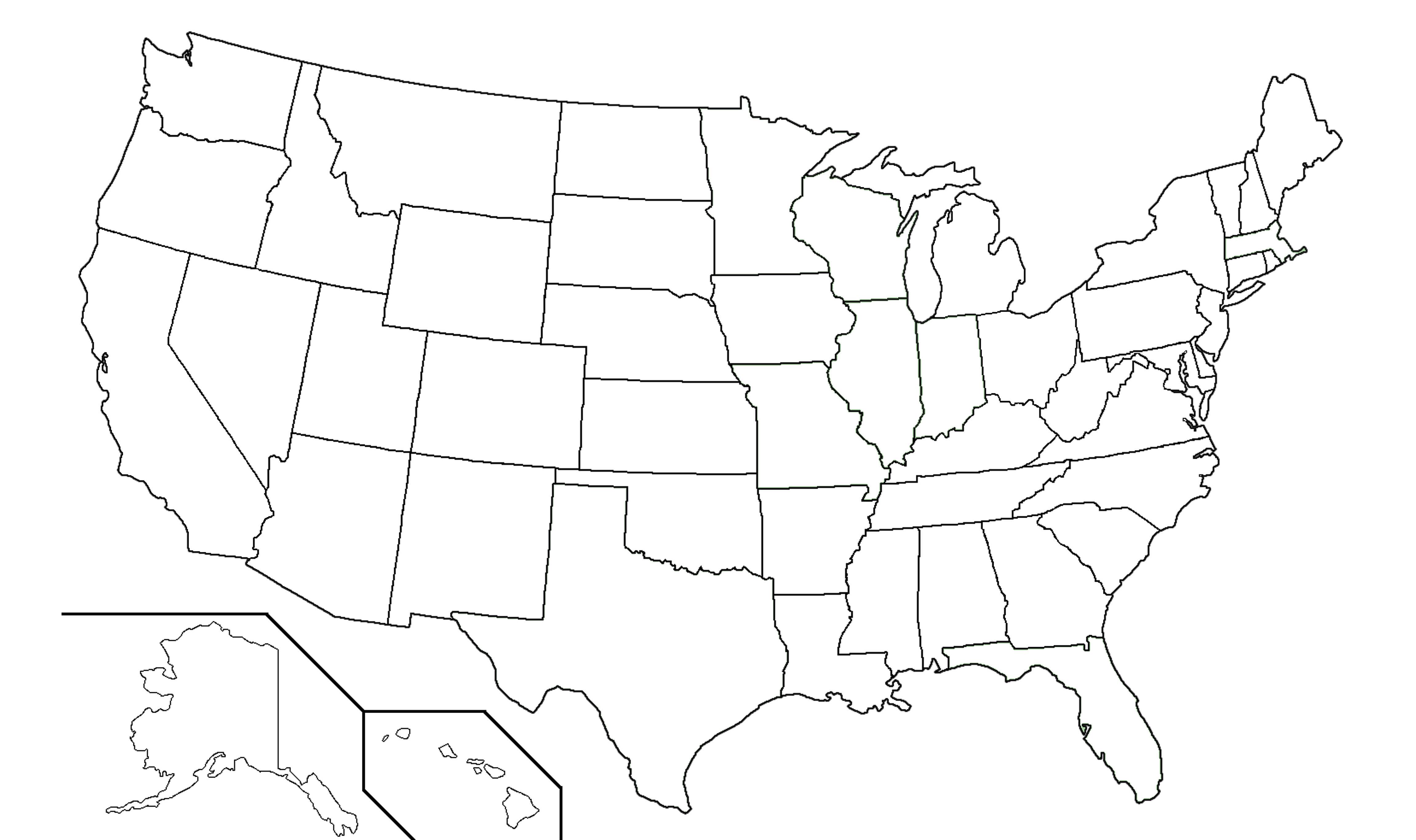 Map United States Blank | demmtk