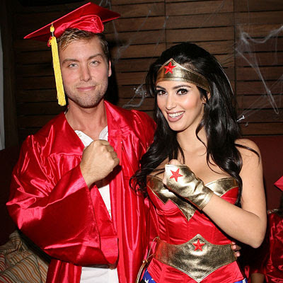 Lance Bass as a grad, Kim Kardashian as Wonder Woman, Stars in Halloween costumes