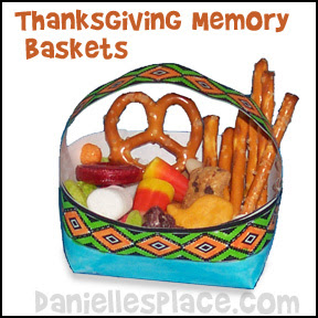 Thanksgiving Memory Baskets Craft from www.daniellesplace.com