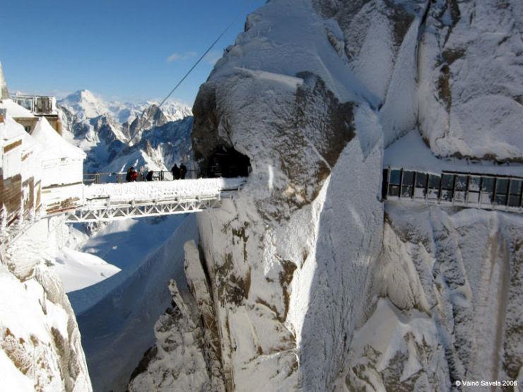 Uma fortaleza no cume do Mont Blanc