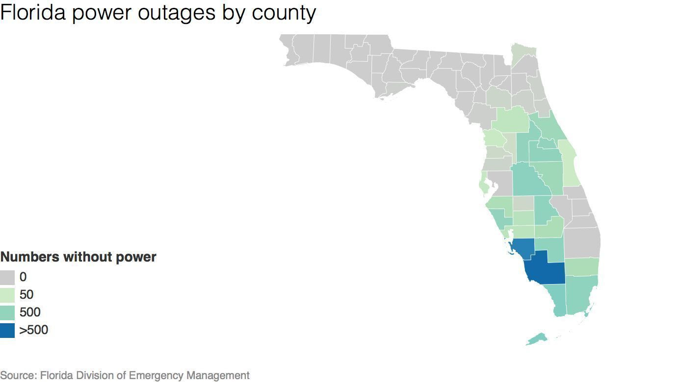 Irma Power Outage Map Time Zones Map: Sarasota Power Outage Map