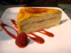 20-layer crepe dessert @ Ayza in NYC