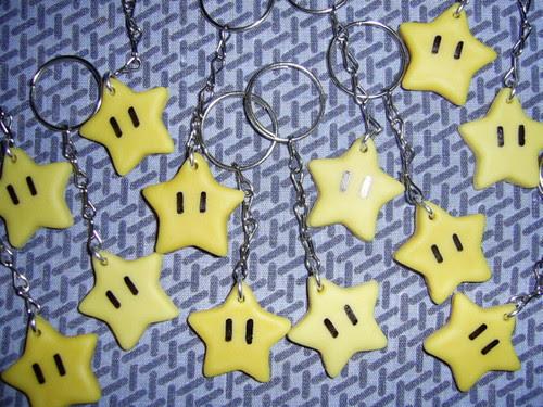 Chaveiros Estrelinha Do Mario Bros P Keychain Stars From