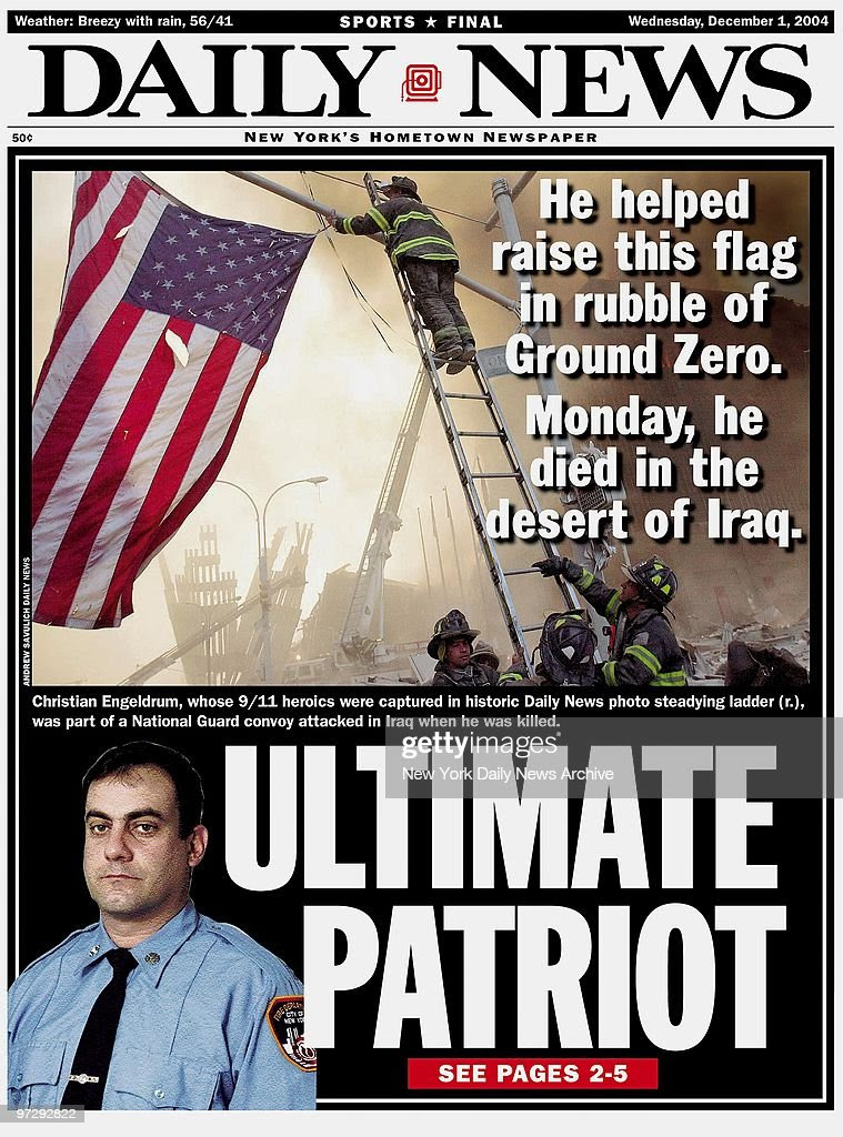 Daily News front page dated Dec. 1, 2004, Headline: ULTIMATE ...