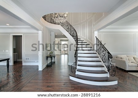 Foyer With Circular Staircase Stock Photo 28891216 : Shutterstock