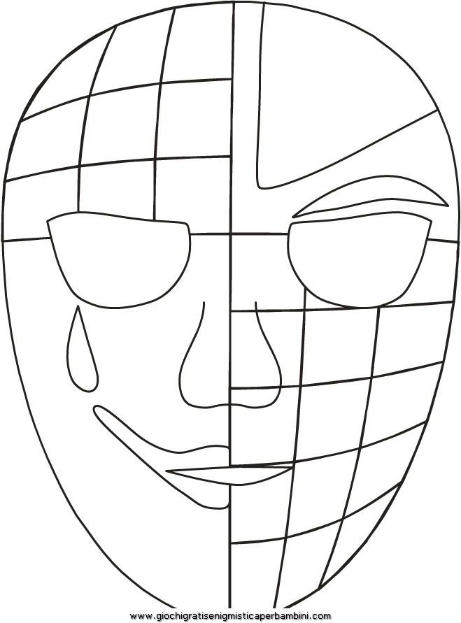 Maschera Veneziana 03 Disegni Da Colorare Per Bambini