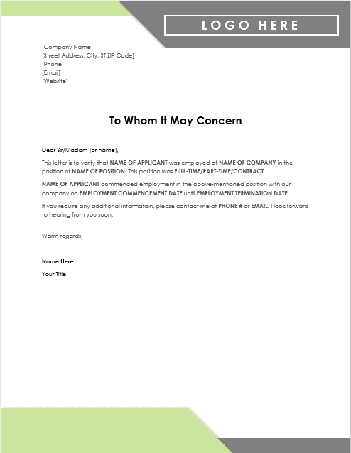 Job Experience Letter Sample From Employer Doc