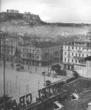 View from the Grande Bretagne in December of 1945