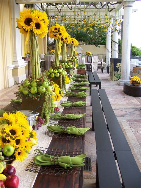 Sucker for Sunflowers! Love this reception decor. BLOG