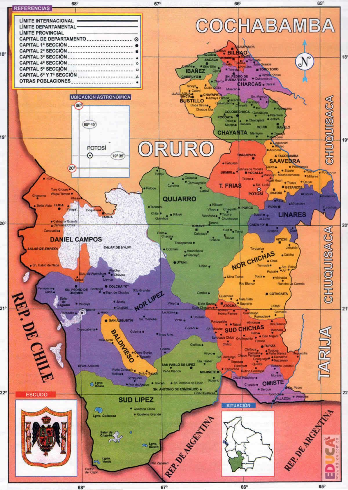 Provincias potosinas