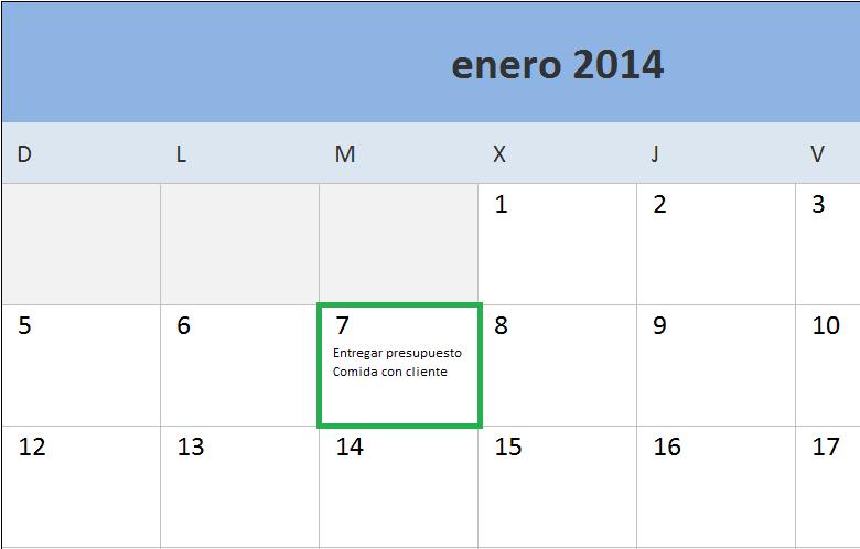 Calendario 2014 en Excel - Excel Total