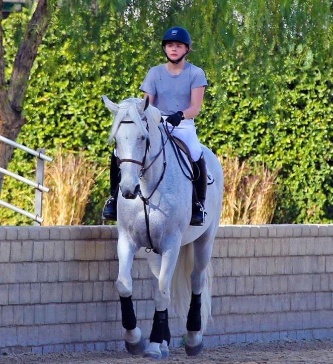 Chloe Moretz: Riding a Horse -03