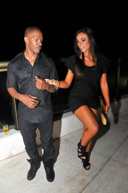 Jammie Foxx e Nicole Bahls juntinhos