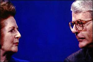 Margaret Thatcher og John Major