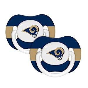 NFL St. Louis Rams Baby Fanatic 2-Pack Pacifiers