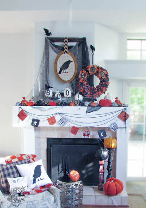 Halloween Mantle - Pocketful of Posies