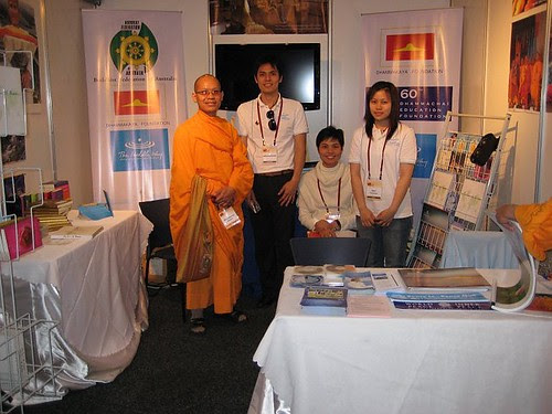 Parliament booth for the Dhammakaya International Society of Australia