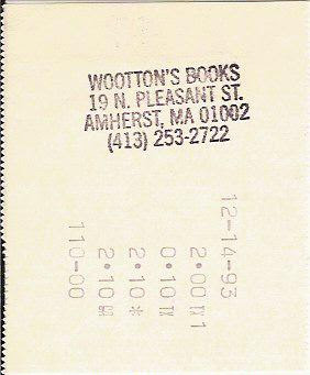 WOOTON'S BOOKS AMHERST