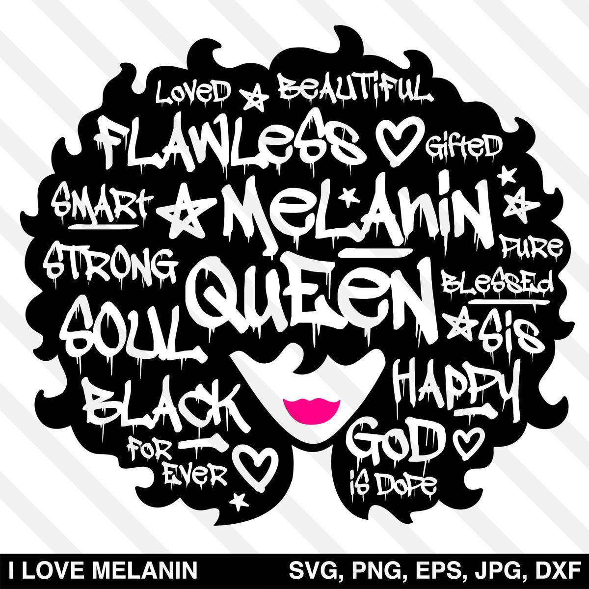 Graffiti Black Queen Afro Woman SVG - I Love Melanin