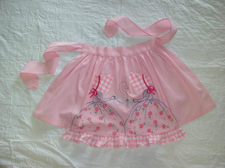Pink tea apron