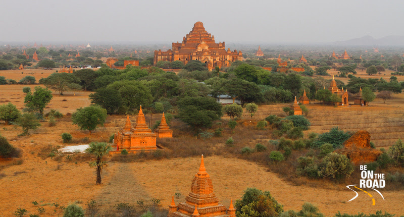 BE ON THE ROAD Travel Photography | Sankara Subramanian C: Bagan &emdash; Dhammayangi temple as seen from the Shwe San Taw Temple, Bagan, Burma