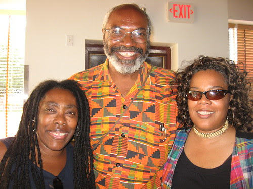 Ramona Africa of MOVE, Abayomi Azikiwe, Editor of the Pan-African News Wire and Andrea Egypt of MECAWI at the Cass Cafe after a Detroit public meeting on the cases of Mumia Abu-Jamal and the MOVE 9 on Aug. 2, 2008. (Photo: Alan Pollock). by Pan-African News Wire File Photos