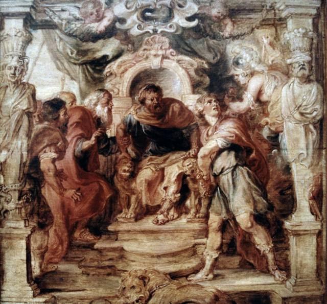 Aquiles considera matar a Agamenón en su trono al enterarse que tomará a su amante Briseida como propia.