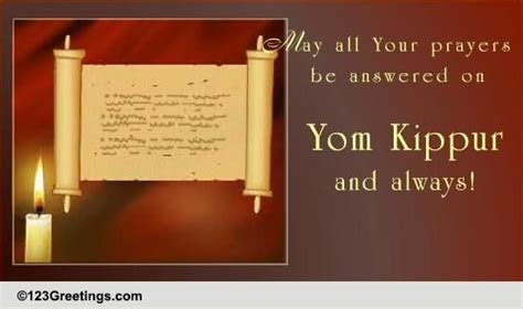 All Your Prayers  Free Yom Kippur eCards, Greeting Cards
