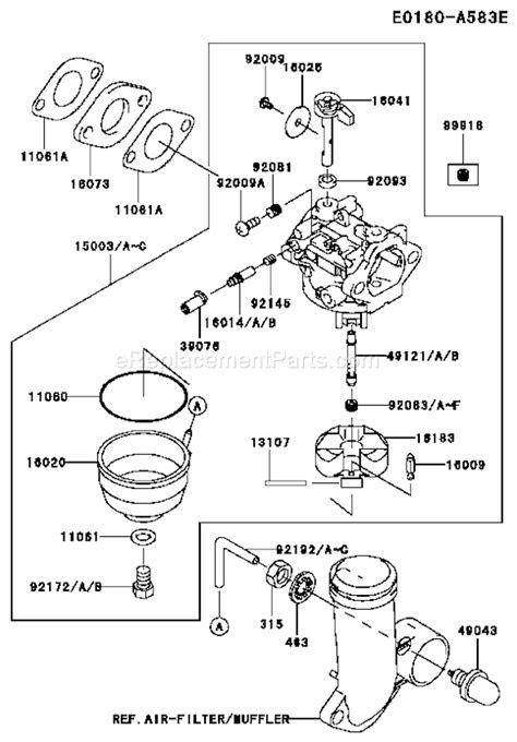 Kawasaki FJ180V Parts List and Diagram - BS19