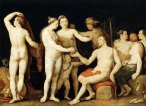 Juicio de Paris, de Cornelisz van Haarlem (1628)