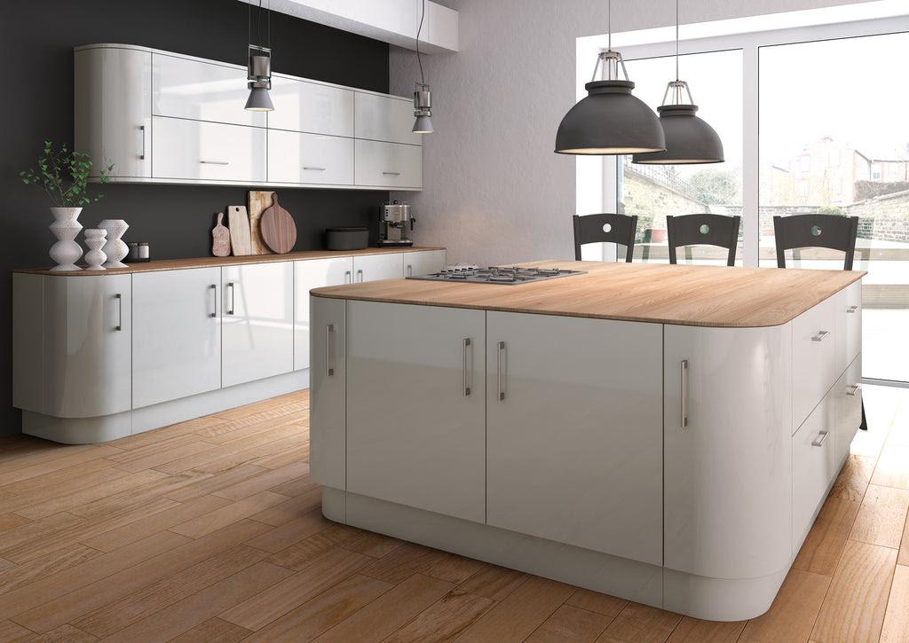 Zurfiz Light Grey High Gloss Acrylic Kitchen Doors Just Click Kitchens