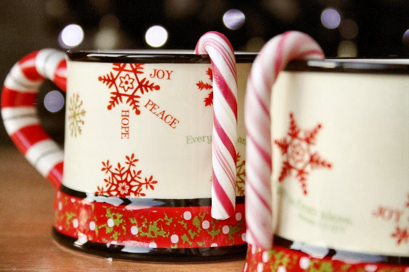 Christmas cups and candy canes