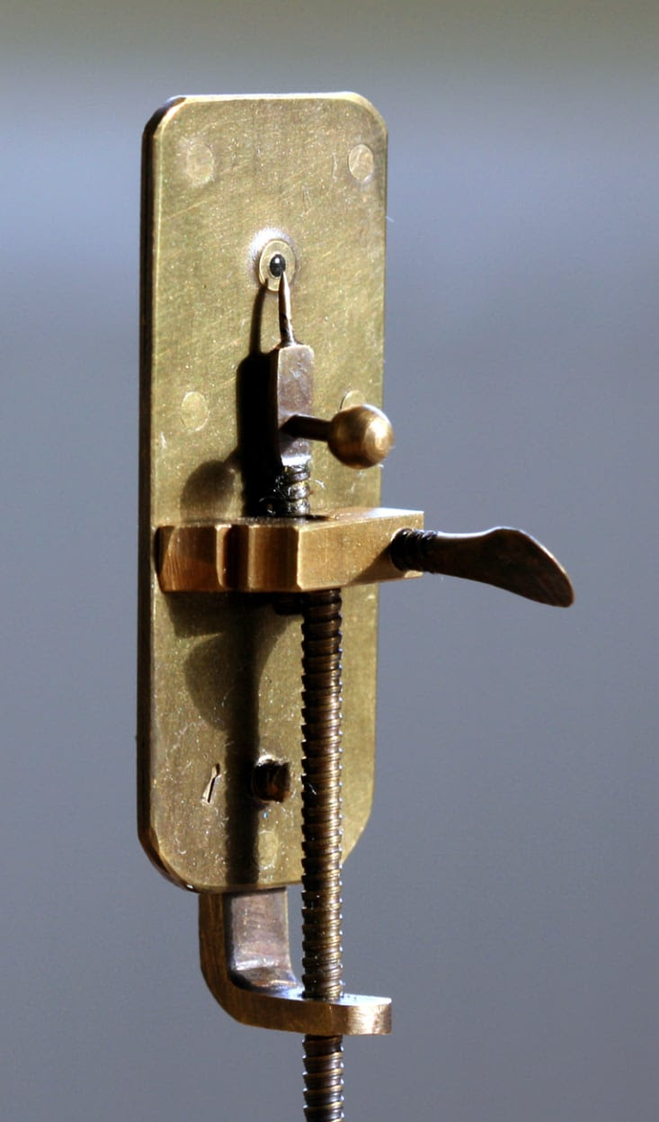 A replica of van Leeuwenhoek's microscope